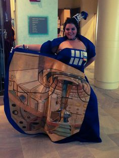 TARDIS dress, inside and out.