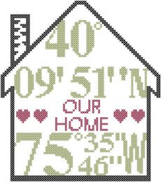 Modern cross stitch pattern is designed on 14 count aida. Design size is approx. 6 x 6.7. Please supply exact street address in purchase