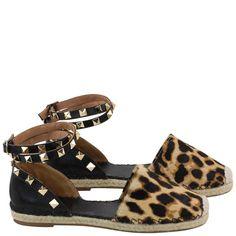 Acquarelashop - A primeira boutique online de sapatos do Brasil - Espadrille Salto Baixo Uza Preto/natural