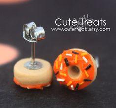 Halloween jewelry  Doughnuts stud earrings by Cutetreats on Etsy, $12.00