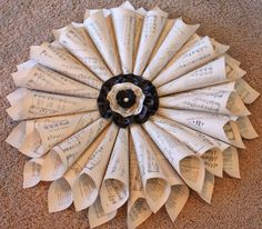 sheet music wreath tutorial-- I could do this EASILY with all of the trumpet music at our house!