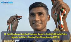 Vijayawada policeman M. Tulsi Chaitanya made the city proud by winning the best swimmer award!  Chaitanya won 5 gold medals at the 64th All India Police Aquatic and Cross-country race championship 2015-16 held at Lucknow.  Know more @ #SwimIndia