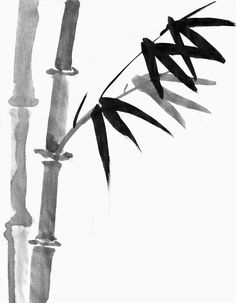 Sumi Bamboo Painting. Looks easy enough I may actually be able to paint.....