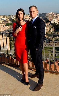Моника Беллуччи и Дэниэл Крейг на фотоколле фильма Spectre в Риме