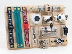 Busy Sensory Preschool Board Montessori Toddler Baby Learning