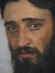 """""""Garshin"""" (close-up) by Ilya Repin : The sadness captured is a painfully accurate depiction of this young, idealistic author's life..."""