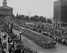 Military parade in Nashville in honor of the victory in World War II.