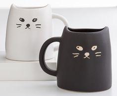 Ceramic Cat Mug Set, Mugs, Tabletop, Home Furnishings - The Museum Shop of The Art Institute of Chicago