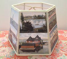 Postcard Lamp Shade Lake Champlain Vermont  by lampshadelady