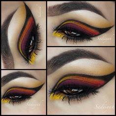 .. interesting eye makeup