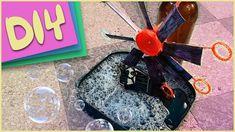 DIY How to make a wind-propelled BUBBLE MACHINE / Como hacer un BURBUJERO AUTOMÁTICO | Craft Attack