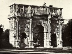 Italy Roma Arch of Constantine in Levant Perspective Old Photo Bisson 1857