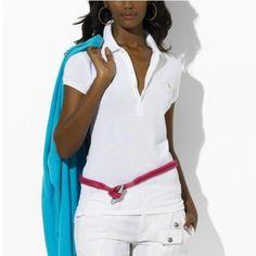 Ralph Lauren Mesh Women Featured Notch Short Sleeved Polo White Outlet  Online Polo Bleu, Ralph 8bbe781dd29