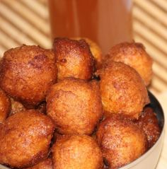 Authentic beignets de maïs - Banana and cornmeal donuts from Cameroon. So good!..., ,