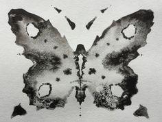 Inkblot Butterfly Rorschach Psychology by PsychologicalArt on Etsy