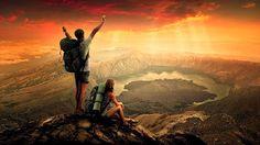Hiking trekking climbing camping adventures mount Rinjani Lombok island Indonesia