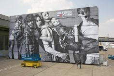#ContainerArt Wall container for Hilfiger denim bread and butter berlin summer Berlin 2010