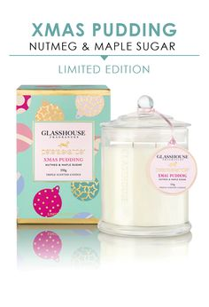 PETER ALEXANDER Image for Glasshouse Fragrances P.A. Limited Edition Xmas Pudding Candle 350G from Peter Alexander