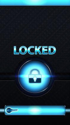 ↑↑TAP AND GET THE FREE APP! Lockscreens Art Creative Shortcut Locked Blue Key HD iPhone 6 Lock Screen