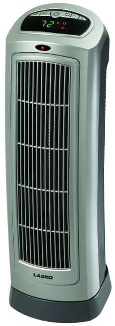 Lasko - Remote Control Ceramic Tower Heater with Digital Display - Cut your heating bills without sacrificing on the warmth you love. With an elongated ceramic element and wide oscillation, this unit makes staying warm easy.