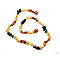 Baltic amber teething necklace - is a good preventive measure suppressing teething pain. Baltic Amber Teething Necklace, Beaded Bracelets, Beads, Color, Jewelry, Beading, Jewlery, Jewerly, Pearl Bracelets