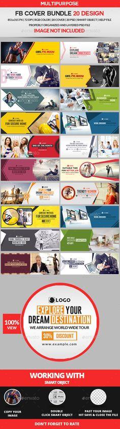 Facebook Cover Template Bundle - 20 Design - #FB #Facebook #Timeline #Cover #Social #Media #Template #Design. Download here: https://graphicriver.net/item/facebook-cover-bundle-20-design/19459379?ref=yinkira