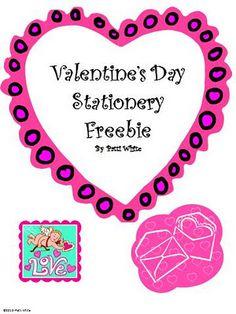 Valentine's Day Stationery Freebie