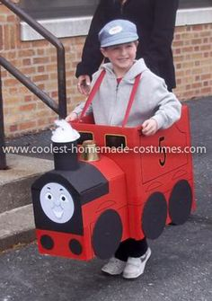 Coolest James the Red Engine Costume 59: Our grandson loves all the Thomas the Train characters but he loves the big red engine named James. We found a Thomas costume on your website and used