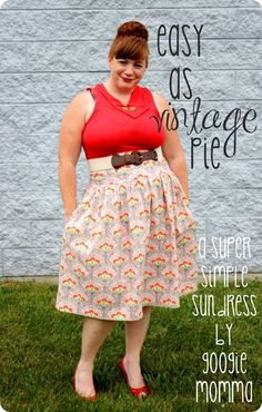 Easy as Vintage Pie Sundress Tutorial by Googiemama for Melly Sews (30) Days of Sundresses