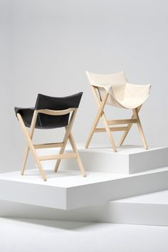 "Fionda is a minimalist design created by England-based designer Jasper Morrison. Fionda, which means ""sling"" in Italian, was conceived due to Morrison's discomfort with outdoor camping chairs. He wanted to produce a similar design for indoor use. As a result, he produced a wooden and stacking chair with a light and stable frame. (15)"