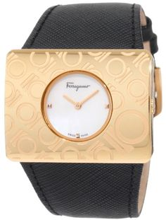 Ferragamo Women`s F65LBQ5091 S009 Venna White Mother-Of-Pearl Rose Gold Plated Watch $599.22