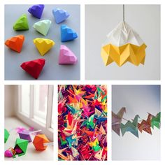 """Japanese Origami - Alex wants to try the """"diamond"""" ones"""