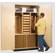 Found it at Wayfair - Drafting Supply 8 Compartment Classroom Cabinet with Doors