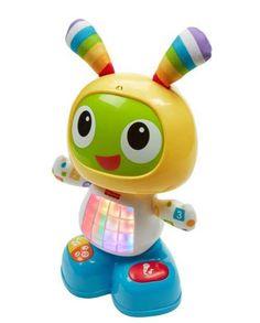 DEJA OFFERT merci  le robot - Fisher price - 36€ (amazon, maxi toys) Le premier robot d'apprentissage pour Bébé ! Il danse, chante et s'illumine. On peut enregistrer un message au micro et Beo le chantera. Chaque bouton déclenche une musique, des lumières ou des mouvements.