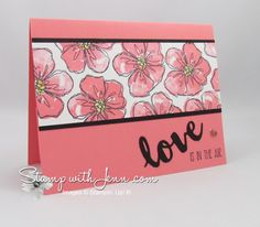 Two Step Stamping with the new Penned & Painted Stampin' Up! stamp set! Also using Sunshine Sayings Bundle.