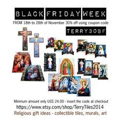 """Black Friday is coming.  From 18th to 28th November 2016 use the coupon code TERRY30BF for a 30% discount.  Minimum amount only US$24.00.  Not valid for the collections and the items in the """"Special Offer""""  section.  With love, Teresa :)"""
