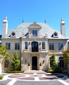 Classic French Chateau style exterior