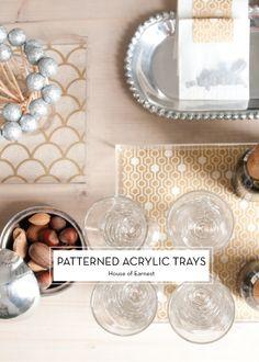 DIY Patterned Acrylic Trays