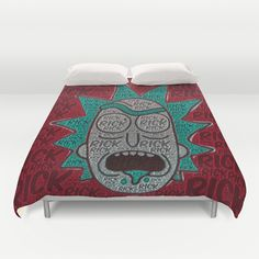 Rick and Morty: Single Print Duvet Cover by Colin Bradley: Artist - $99.00