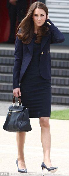 Roland Mouret Manon dress, smythe one button blazer, mulberry polly push lock bag