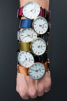 Mix and match to your mood and outfit. Face and band colors are interchangeable.