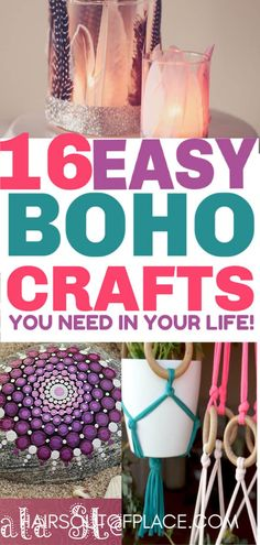 16 DIY boho bedroom ideas that are cute and easy DIY boho decor crafts for your teen girl room or dorm. 16 DIY boho bedroom ideas that are cute and easy DIY boho decor crafts for your teen girl room or dorm. Diy Crafts For Teens, Easy Diy Crafts, Decor Crafts, Kids Diy, Cute Diy Crafts For Your Room, Craft Ideas For Teen Girls, Diys For Your Room, Diy Home Decor For Teens, Cute Diy Room Decor
