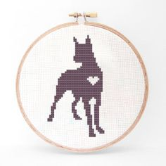 Great Dane Cross Stitch Kit, $18, now featured on Fab.