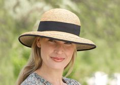 The Tilley Hat is both elegant and practical. Shade your eyes from the sun with the shapeable brim and stay protected from the rays with the UPF rating. This hat also features a wind cord that prevents loss. Raffia Hat, Adventure Outfit, Sun Hats For Women, Black Trim, Lady, Panama Hat, Traveling By Yourself, Women Accessories, How To Look Better