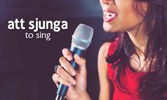 att sjunga