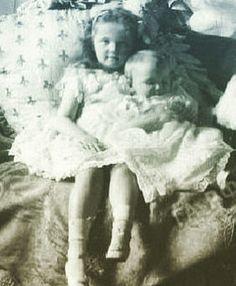 "Grand Duchesses Olga and Maria Nikolaevna Romanova of Russia. ""AL"""