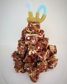 When you're not a big fan of cake bakes, grab a cake. rocky road stack for your birthday instead! 😍  Order in Shoreham-by-Sea, Brighton... Rocky Road, It's Your Birthday, No Bake Cake, Roads, Brighton, Wedding Cakes, Finding Yourself, Birthdays, Fan
