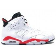 384664-102 Air Jordan 6 (VI) Original White infrared Black A06011 Price:$104.99  http://www.pinterest.com