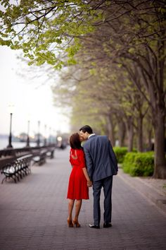 New York City Engagement Session, Battery Park