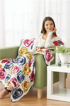Lily Sugar 'n Cream Crochet Circles Afghan; omgosh i totally need to do this for debbie!